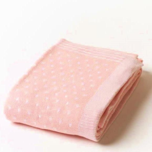 A Soft Idea Pin Dot Baby Blanket - Multiple Colors!