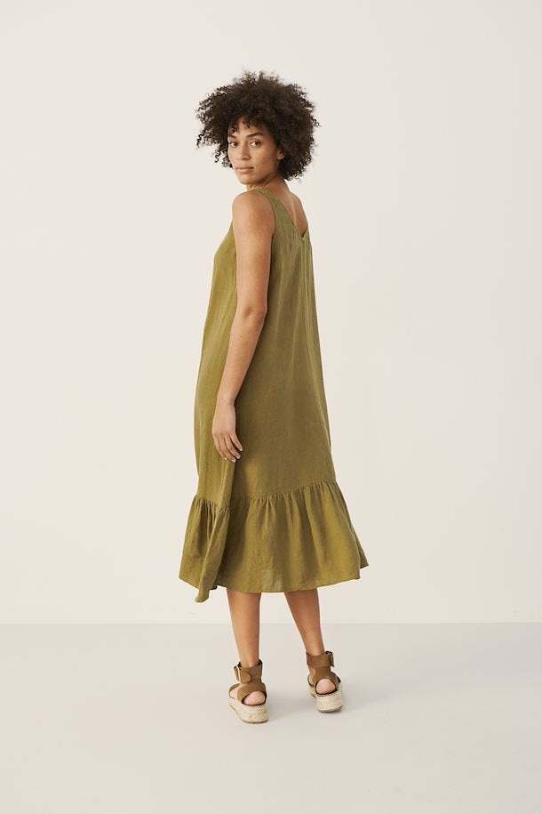 Part Two Ilu Dress in Olive Drab