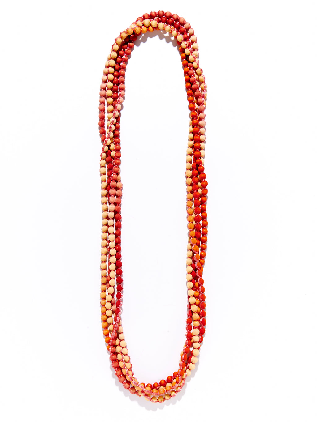 Roller Rabbit Gudli Necklace in Orange Ombre