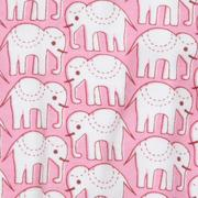 Roller Rabbit Infant Hathi Footie in Pink