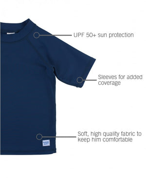 RuggedButts Navy Short Sleeve Rash Guard