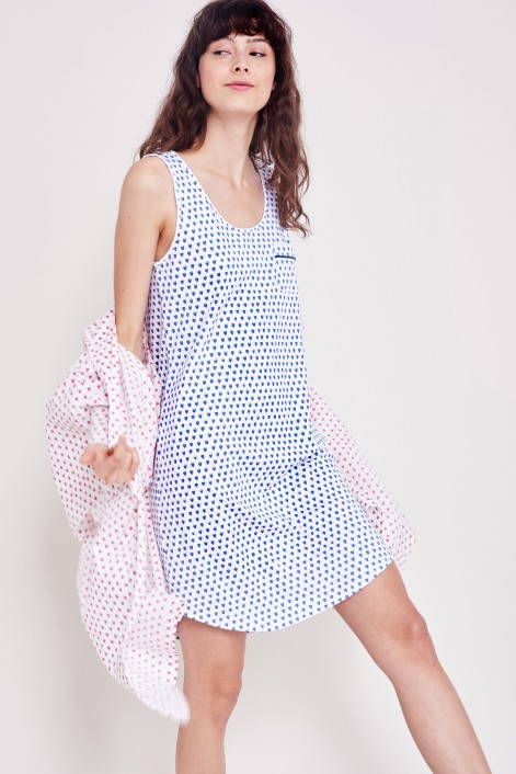 Roller Rabbit Hearts Alba Dress in Blue