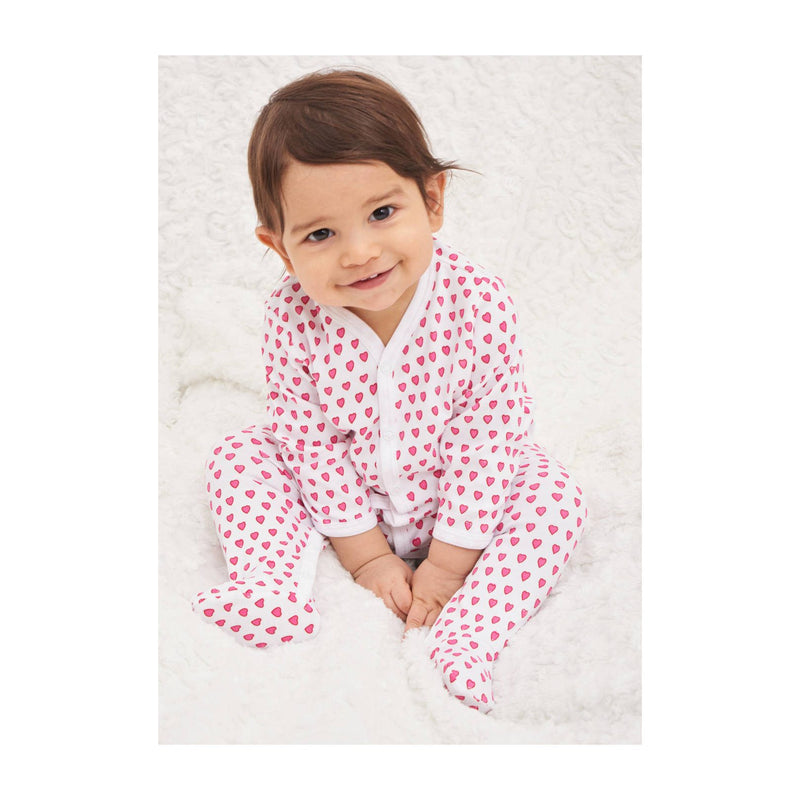 Roller Rabbit Infant Hearts Footie in Pink