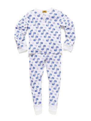 Roller Rabbit Moby Kids Pajamas in White/Blue