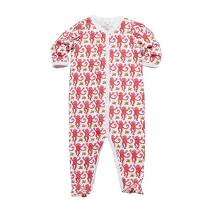 Roller Rabbit Monkey Footie in Pink