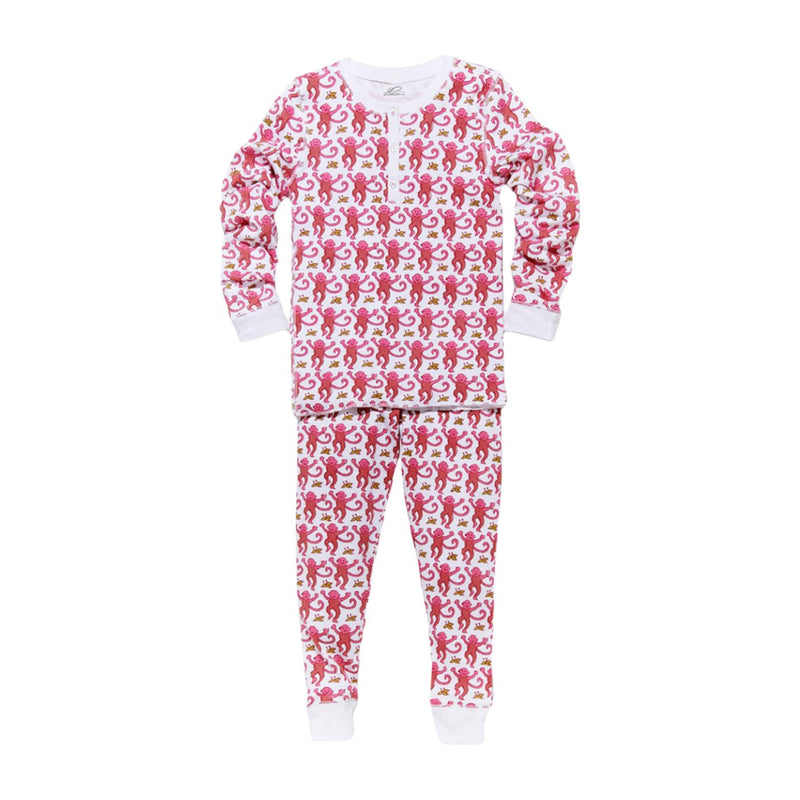 Roller Rabbit Monkey Pajamas in Pink
