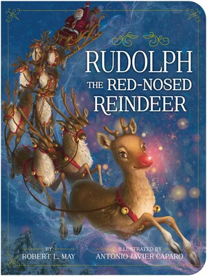 Rudolph the Red Nosed Reindeer Board Book by Robert L. May