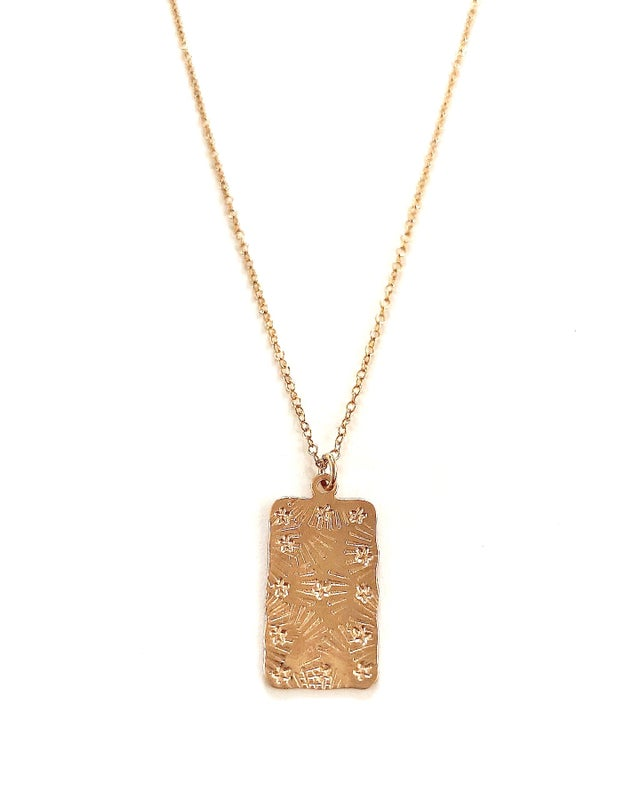 Aquinnah Star Flutter Necklace in Gold