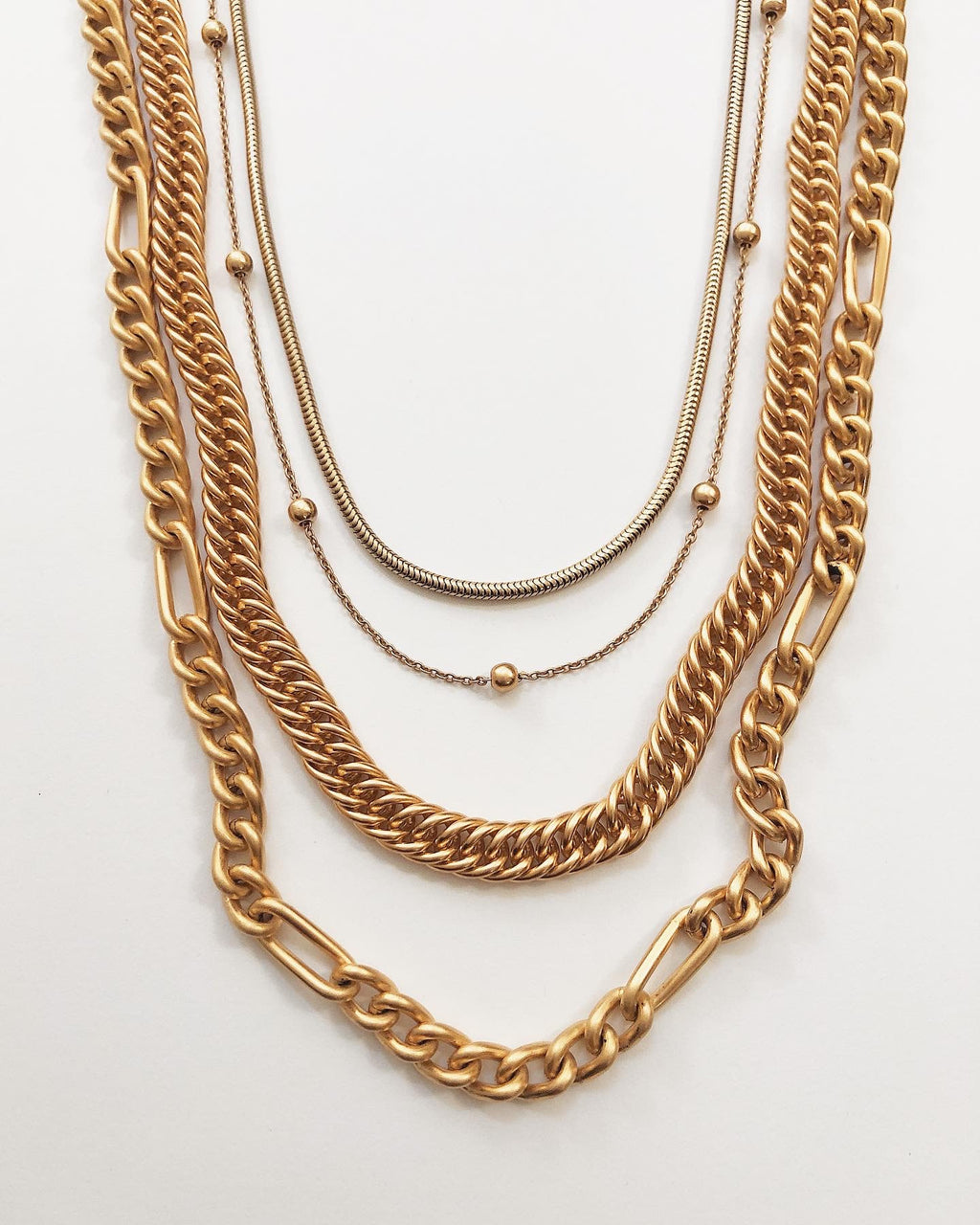 Aquinnah Layla Ball Chain Necklace in Gold
