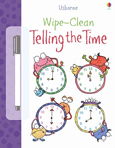 Usborne Telling The Time Wipe Clean Book