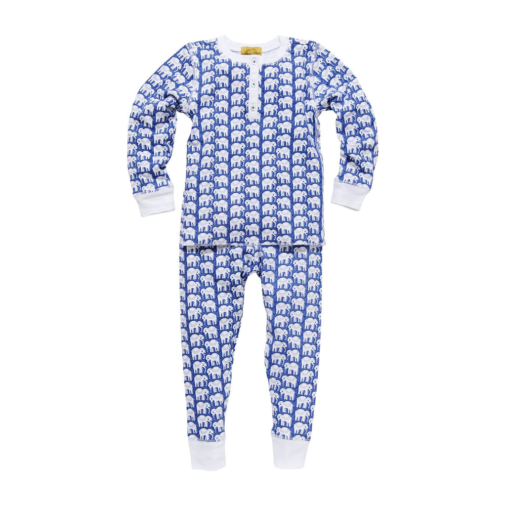 Roller Rabbit Hathi Kids Pajamas in Blue