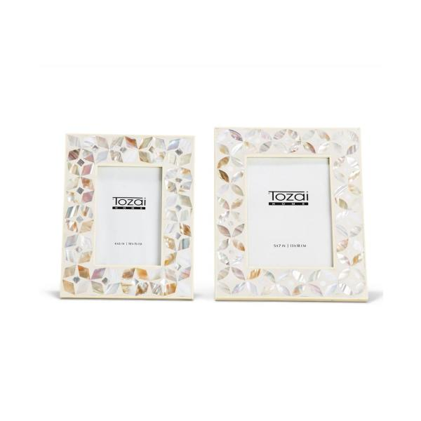 Two's Company Flower Inlay Mother of Pearl Frame