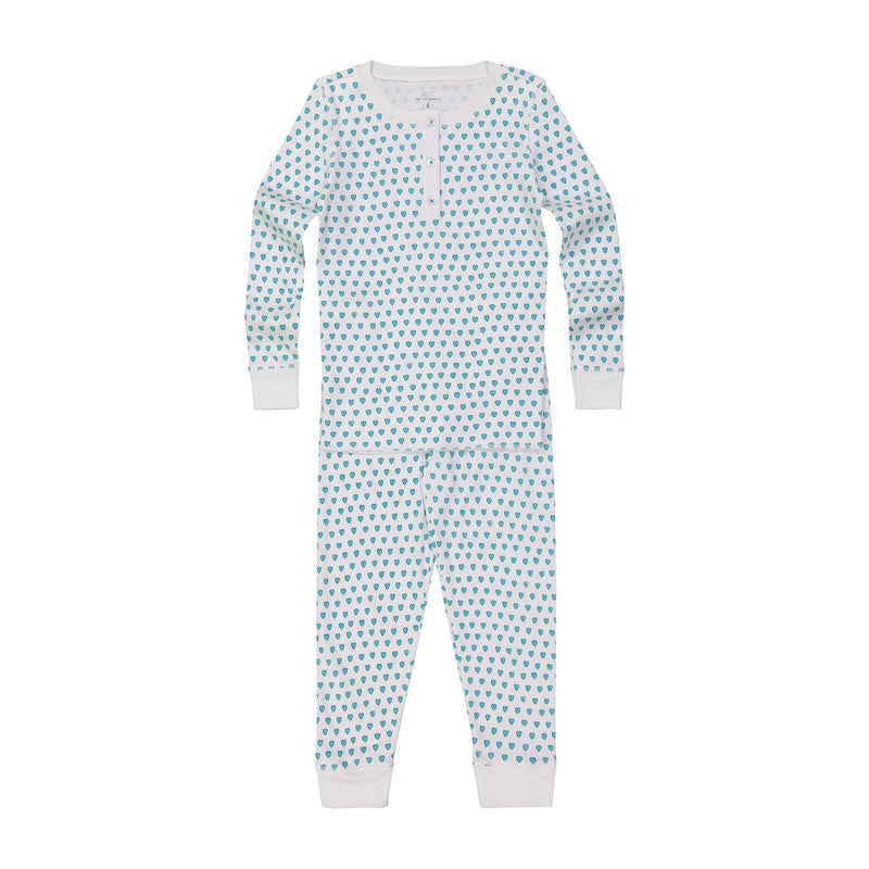 Roller Rabbit Hearts Kids Pajamas in Mint