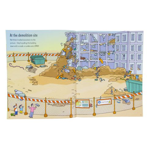 Usborne First Sticker Book Building Sites