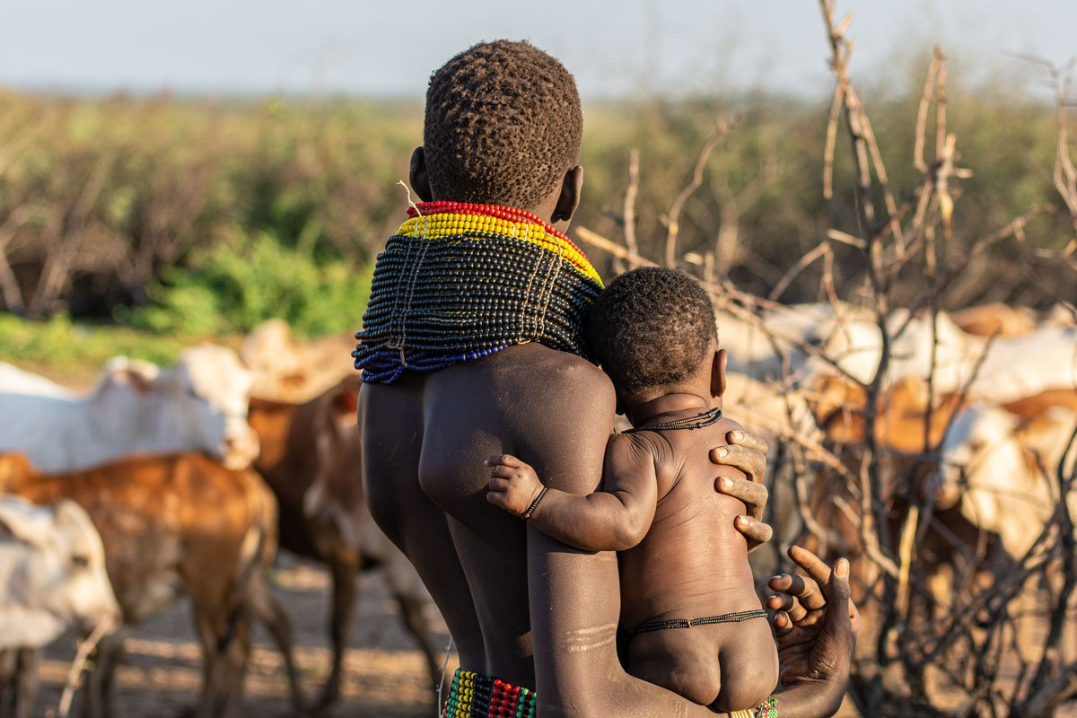 Beads & Baby - Omo Valley