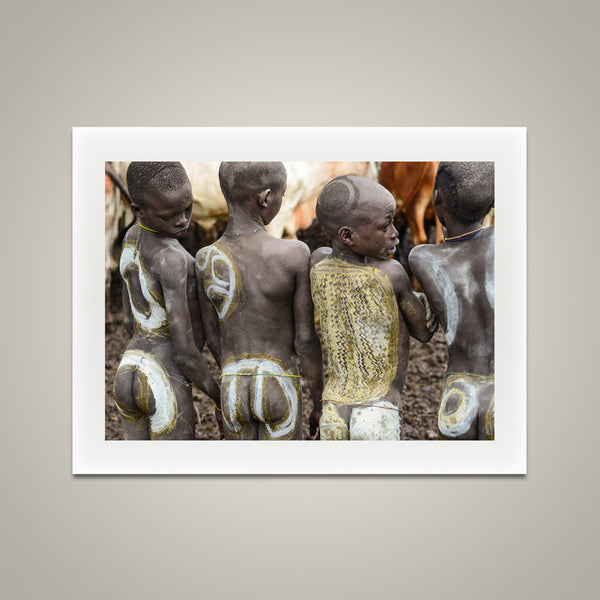 Cattle Camp Boys - Omo Valley - Koka Village