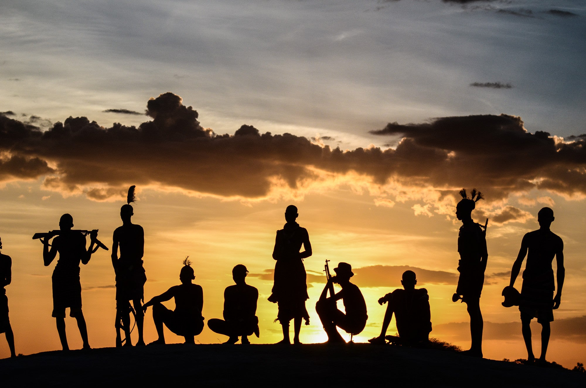 Duss Village Sunset - Omo Valley - Kara Tribe