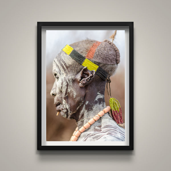 Notched Left Ear - Omo Valley - Kara Tribe