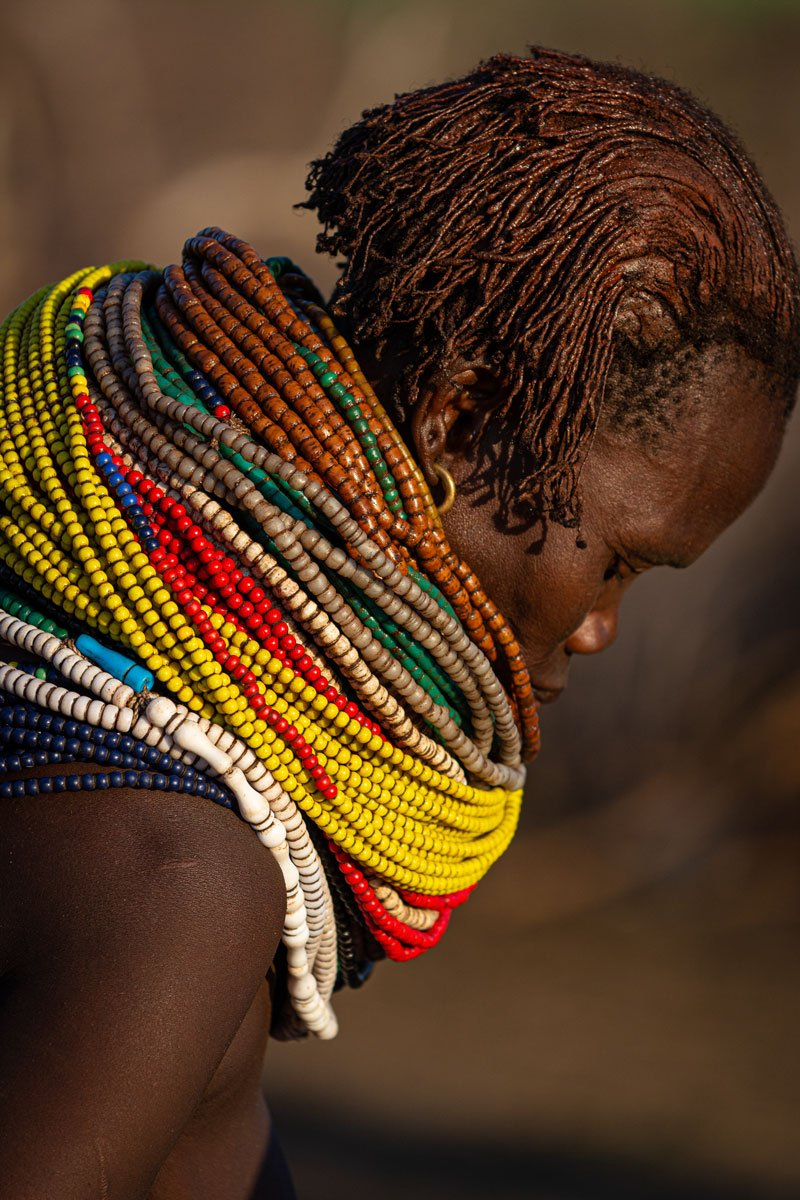 Piles of Necklaces - Omo Valley