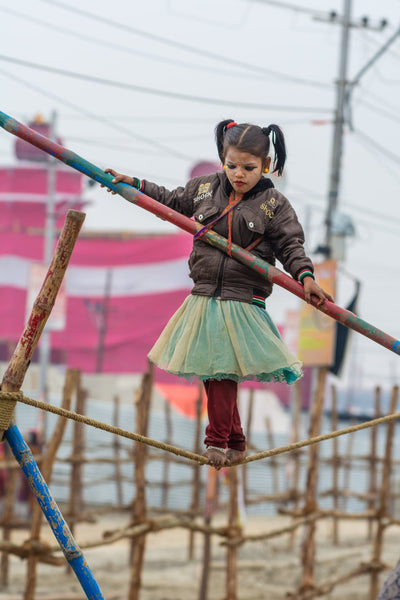 Young Tightrope Walker