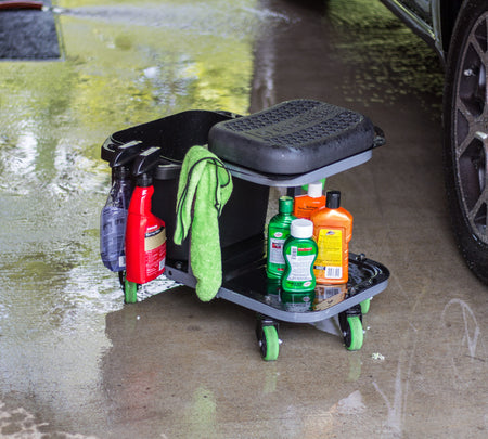 ROLLING CAR WASH STOOL