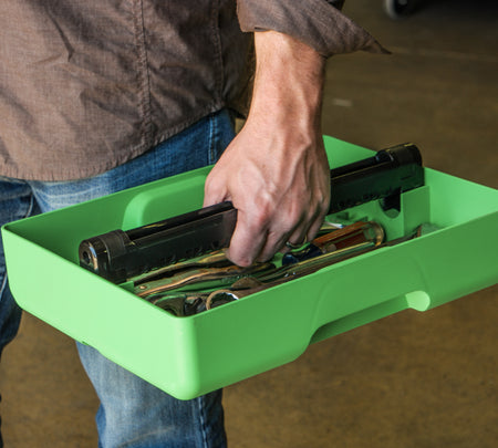 TOOL CADDY WITH MOBILE DEVICE STAND