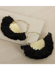 Marcella Drop Earrings in Black