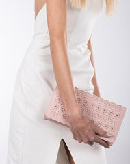 Party Ready Blush Flapover Clutch