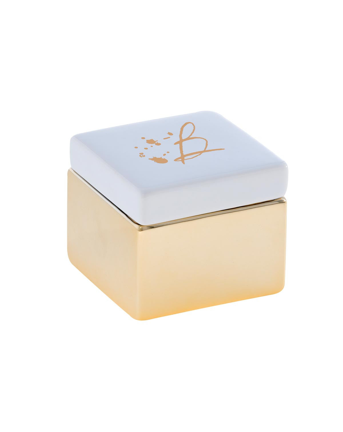 Fashionest Fashionest GoldWhite Initial Small Jewelry Box