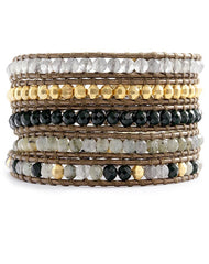 Chan Luu Labradorite Mix Beaded Wrap Bracelet