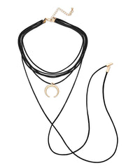 Fashionest Label Crescent String Choker