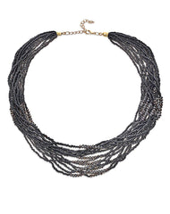 Fashionest Label Venezia Beaded Necklace in Black