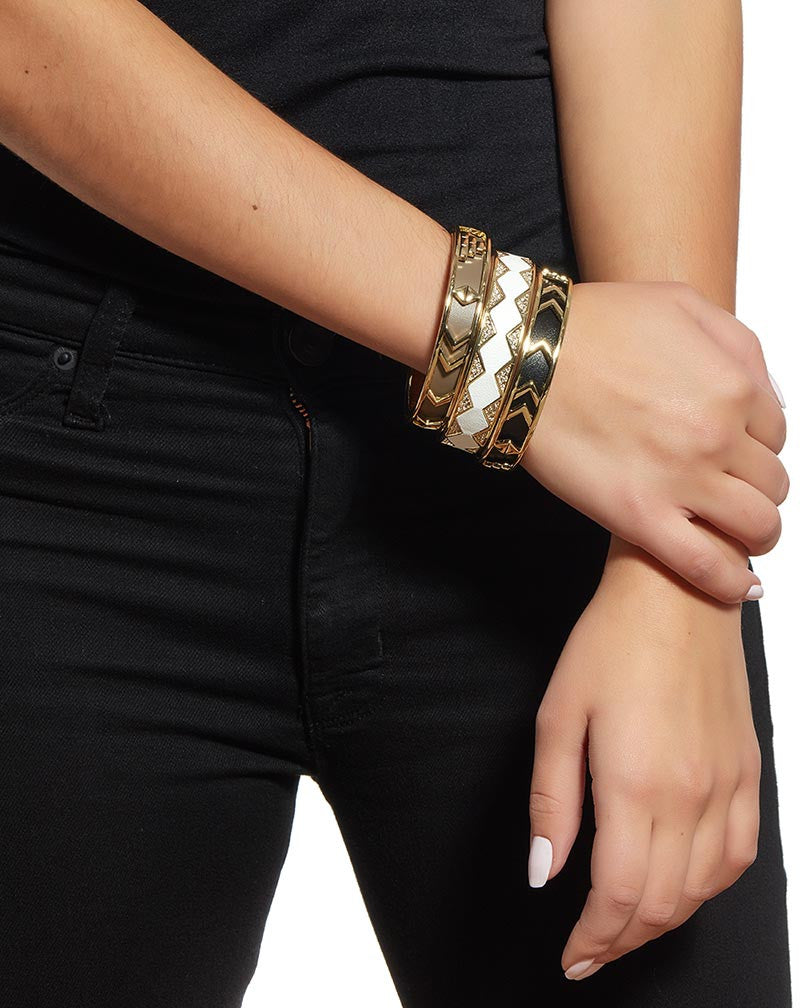 House of Harlow Aztec and Pave Bangles