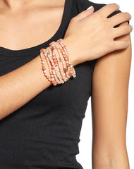 Wide Multi-Strand Wrap Bracelet