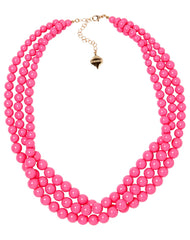 Winnie Necklace in Pink