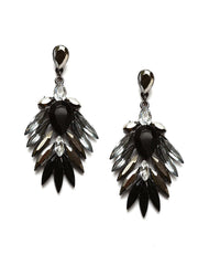 Fashionest Label Phoenix Drop Earrings in Black