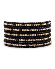 Chan Luu Mixed Metal Nugget Wrap Bracelet