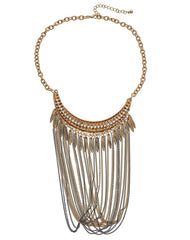 Fashionest Label Americana Fringe Necklace