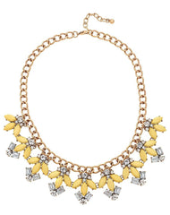Fashionest Label Citrine Collar in Yellow