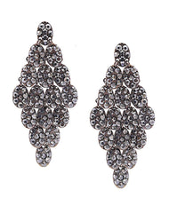 Fashionest Label Jaipur Bouquet Drop Earrings in Black