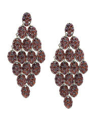 Fashionest Label Jaipur Bouquet Drop Earrings in Red