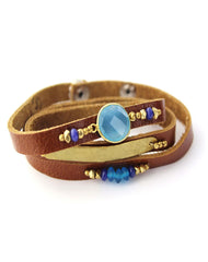 Nakamol Boho Gem Wrap Bracelet in Blue