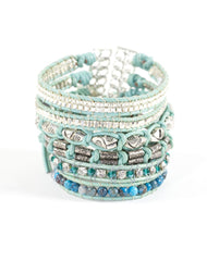 Nakamol Passion Beaded Wrap Bracelet in Blue