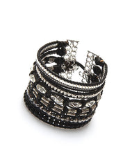 Nakamol Passion Beaded Wrap Bracelet in Black