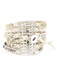 Nakamol Passion Beaded Wrap Bracelet in White