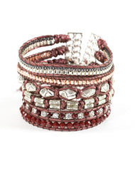 Nakamol Passion Beaded Wrap Bracelet in Red