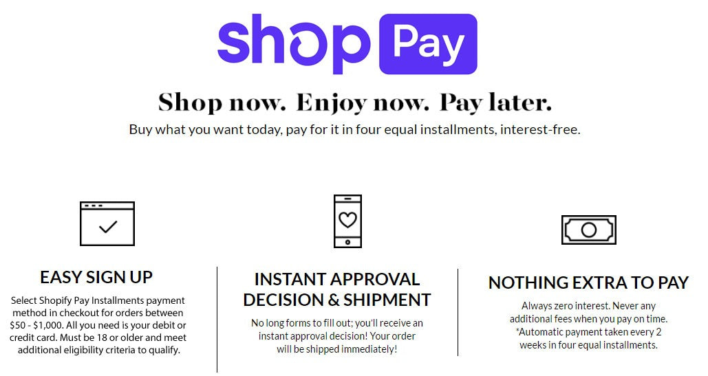 Shopify Pay Installments - Shopping made easier