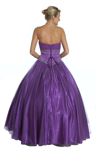 Fuchsia Princess Ball Gown Sweetheart Bead Ruched Skirt Lace Up Back