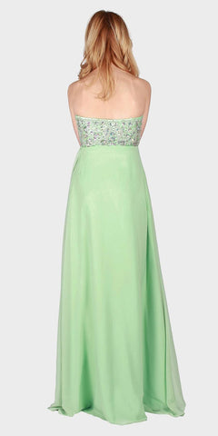 Mint Sweetheart Neckline Long Formal Dress Strapless