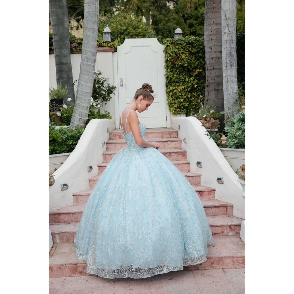 Juliet 1427 Princess Ball Gown Bahama Blue Poofy A-Line